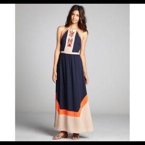 NWT Greylin Amanda Embroidered Maxi Dress